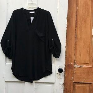 Lush black tunic top Size XXL